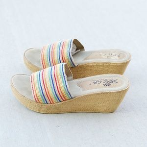 Sbicca Rainbow Handmade Nieto Wedge Sandals